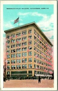 "1930s Hutchinson, Kansas Postcard ""RORABAUGH-WILEY BUILDING"" Street View Kropp"