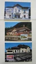 LIECHTENSTEIN 1997 RAILWAY STATIONS  MAXIMUM CARDS /dc854