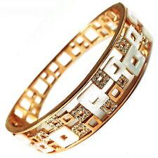 USA Bracelet Style rose GOLD clear Austria CRYSTAL circle White Square Bangle