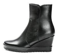 FRAU 41M5 NERO scarpe donna stivali stivaletti bassi decolte zeppa tacco plateau