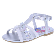 SHIMMER AND SHINE Girls Shoes SANDALS Flats MULES Genie PRINCESS SLVR Size 6 NEW