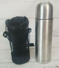 stainless steel thermo flask hold 24 ozwith mesh holder and strap