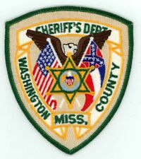 WASHINGTON COUNTY SHERIFF MISSISSIPPI MS NICE NEW COLORFUL PATCH POLICE