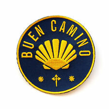 Camino de Santiago Way St. James Scallop Shell Pilgrim Buen Camino Cloth Patch