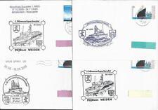 Schiffsstempel 12 Briefe mit Stempel aus 2005 des 1.Minensuchgeschwader!