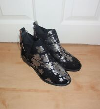 BNWT Primark womens embroided flower print ankle boots - various sizes