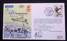 LONDON 1980 BY HELICOPTER SIGNED COVER