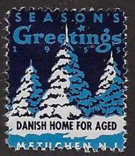 Usa Cinderella stamp: Seasons Greetings: Danish Home for Aged, Metuchen,Nj-dw963