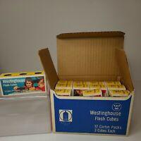 Vintage Westinghouse Flash Cubes 12 Carton Bulk Box (36 Flash Cubes Total)