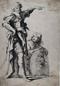 Salvator Rosa (after) - Soldiers - Old Master Etching