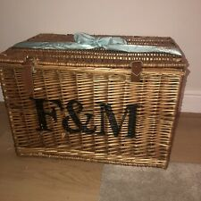 large fortnum and mason wicker hamper basket side table brand new !!