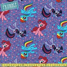 Springs Creative Fabric My Little Pony Stars Purple PER METRE Licensed MLP Carto