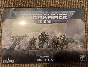WARHAMMER 40K - NECRONS: IMMORTALS BNIB