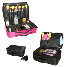 Multilayer Cosmetic Travel Makeup Bag Waterproof Storage Case W/Shoulder Strap