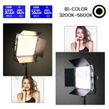 Dimmable Bi-Color LED Video Light +Reverse Stand Photography Studio Lighting Kit