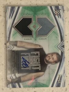 2020 Topps WWE Undisputed Kevin Owens Autograph Dual Relic /50 Green Parallel