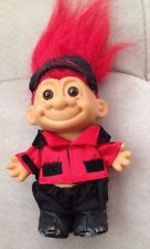 "Vintage Russ Berrie 5"" Equestrian Horse Riding Jockey Troll Doll Red Hair"