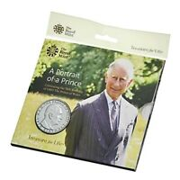 2018 Royal Mint 70th Birthday of the Prince of Wales £5 Five Pound BU Coin Pack