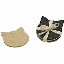 ORE Originals Living Goods Coaster Recycled Rubber Cat Head, 4 Count Baby
