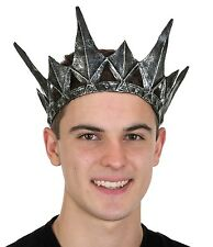 Spiked Medieval Antique Pewter Adult Crown King Queen Evil Witch Costume