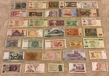 Lot Of 35 Banknotes. Worldwide Set. Collectible Assortment.