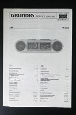GRUNDIG RR 1150 Original Service-Manual/Service-Anleitung/Schaltplan