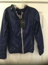 NEW Members Only Packable Nylon Jacket Size XS Blue/Gray Hooded