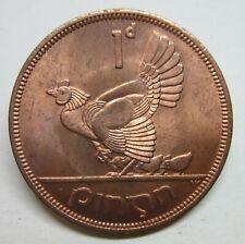 Ireland - Uncirculated Irish Penny 1968 Eire Hen & Chicks/Harp
