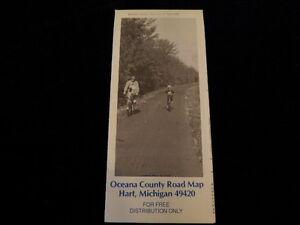 Vintage 1990 Official Oceana County Michigan Road Map MI