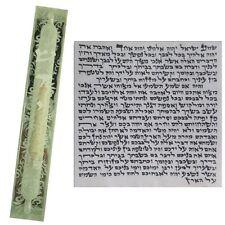 Silver Glass Mezuzah Case With Kosher Scroll Jewish Judaica Judaica Mazuza 10cm