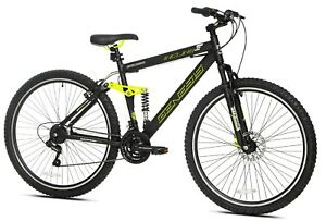 """29"""" Genesis Incline Mountain Pro Bike Off Road Trail Tires 21-Speed Bicycle"""