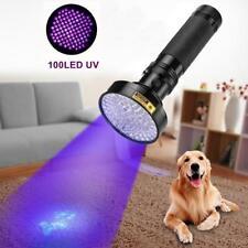100 LED UV Ultra Violet Blacklight Flashlight Torch Pet Inspection Light Outdoor