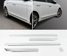 Chrome Side Skirt Garnish Accent Molding Trim Cover 4p For 15 Hyundai Sonata LF