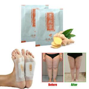 10Pcs Ginger Detox Foot Pads Patch Organic Herbal Cleansing Premium Detox Pads