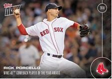 TOPPS NOW CARD OS-33: RICK PORCELLO WINS AL COMEBACK PLAYER OF THE YEAR AWARD