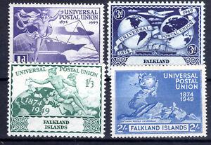 Falkland Islands UPU set of 4 1949 MLH Cat £12 [F150821]
