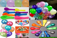 "50 x 10"" Inch Latex Balloons (Party Decorations) LARGE RANGE OF BALLOON COLOURS"