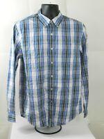 Club Room Button Up Shirt Mens Size M  Blue Plaid Slim Fit Long Sleeve NWT $49