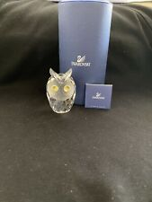 In Box Swarovski Crystal Figurine 010022 Mib Large Owl ~Free Shipping~