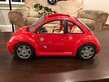 Vintage 2000 Mattel Barbie Red Volkswagen Beetle