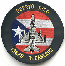 Puerto Rico Fighter Squadron Air National Guard 198FS Embroidered Patch