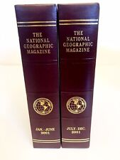NATIONAL GEOGRAPHIC MAGAZINE Holder-Case-Covers-Binder for 2001-LOT OF 2-Padded