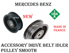 Accessory Drive Belt Idler Pulley Smooth For Mercedes C230 C250 C280 C300 Ina
