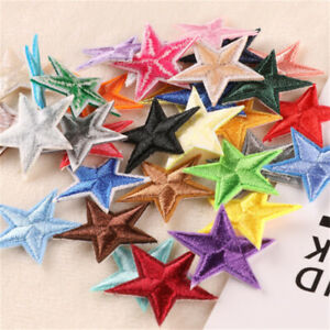 20 pcs Assorted Stars Patches Fabric Sew On Embellishments Decors For Jeans 3cm
