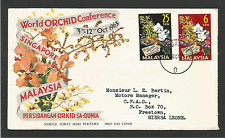 Orchidée Singapore Malaysia Malaisie FDC 1963 timbres sur lettre /Fdca224