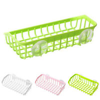 AM_ Kitchen Sink Holder Sponge Drain Rack Bathroom Soap Hanging Strainer Storage
