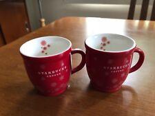 2 Starbucks Coffee Mini Cup 3fl oz Christmas Collection Mugs