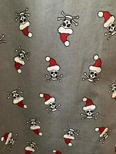 "OLD NAVY Santa Skull Print Gray Men's Pajama Bottoms Sleep Pants XL 38"" NWT"