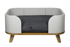 Modern Raised Wooden Dog Bed by MoCo Pet