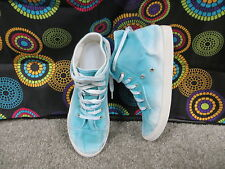 Mossimo Supply Co. Aqua Blue & White Tie-Dyed Look High Top Sneakers w/Laces, 9